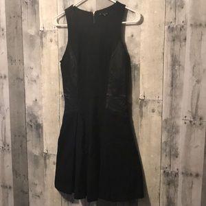 Club Monaco Leather Skater Dress